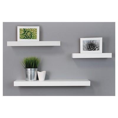 3pc Decorative Wall Ledge Shelf Set White - Nexxt : Target