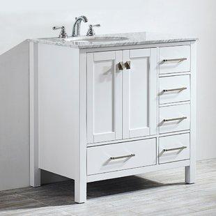 White Bathroom Vanities You'll Love   Wayfair