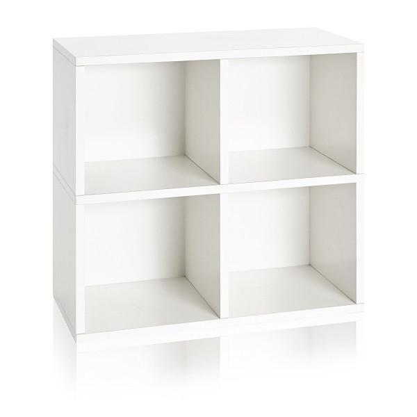 4 Cubby Storage Cube White | Eco Friendly | Way Basics