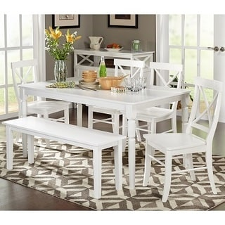 Feeling The serenity of white   dining room table