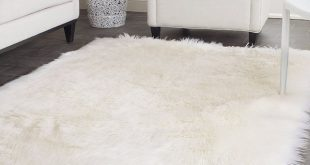 White Faux Sheepskin Rug Long Wool Faux Fur Blanket Decorative