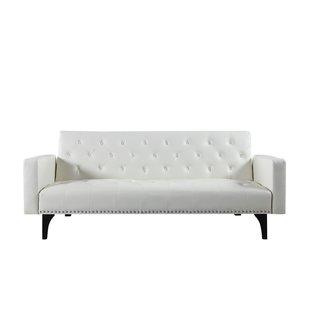A multipurpose white sofa bed