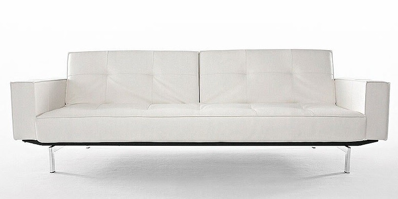 Karina White Deluxe Modern Sleeper Sofa | Modern Convertible Sofa