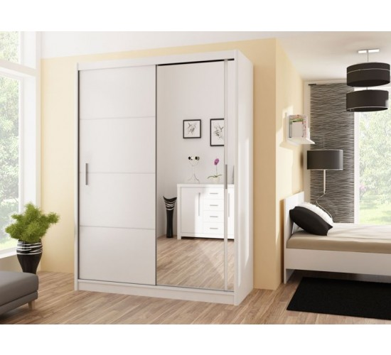 Wardrobe VISTA 150 White - Dako Furniture