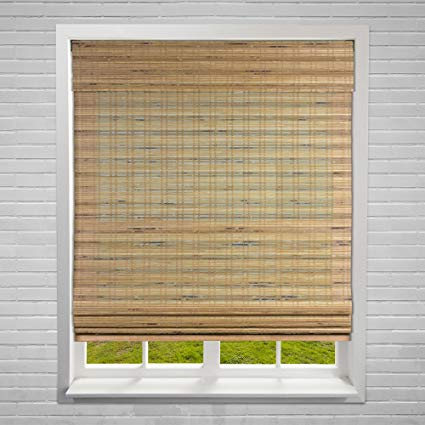Amazon.com: Calyx Interiors Bamboo Roman Window Blinds Shades, 32