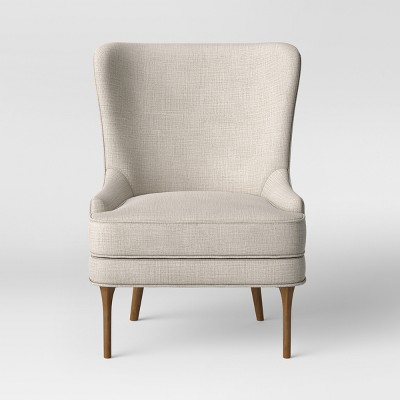 Cheswold Wingback Chair Beige - Threshold™ : Target