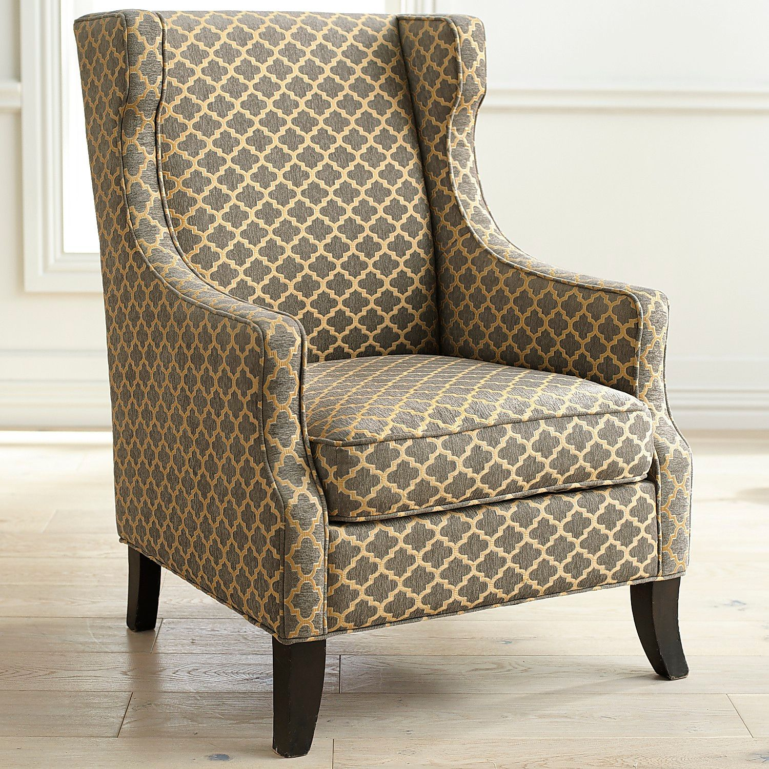 Alec Gray Trellis Wing Chair | Pier 1