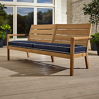 Patio. Amusing Wooden Outdoor Furniture: Regatta Natural Sofa with