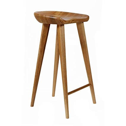 Amazon.com: Set of 4 Tractor Contemporary Carved Wood Barstool