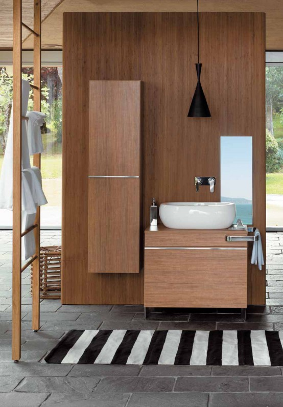 wood bathroom cabinets Archives - DigsDigs