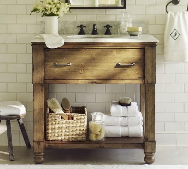 Small Rustic Bathroom Vanities Ideas   powder room ideas   Pinterest