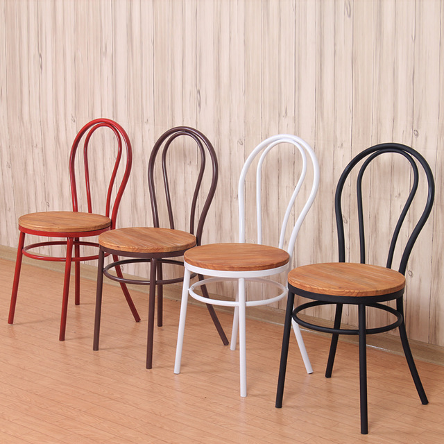 Vintage Wrought iron chairs chairs chairs navy simple casual coffee