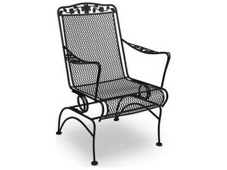 Meadowcraft Dogwood Wrought Iron Coil Spring Dining Chair - Price