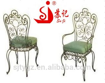 Classical Indoor Wrought Iron Chairs Included Cushion - Buy Iron