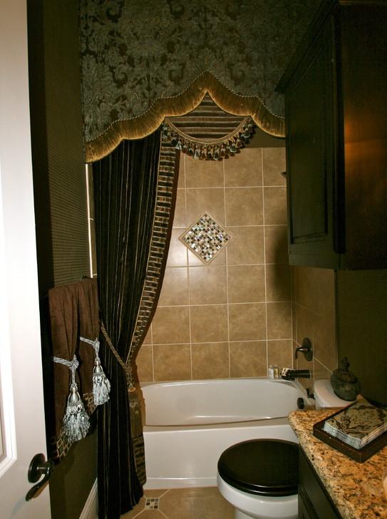 Luxury fabric shower curtains