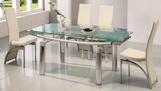 Dining tables and chairs with glass top