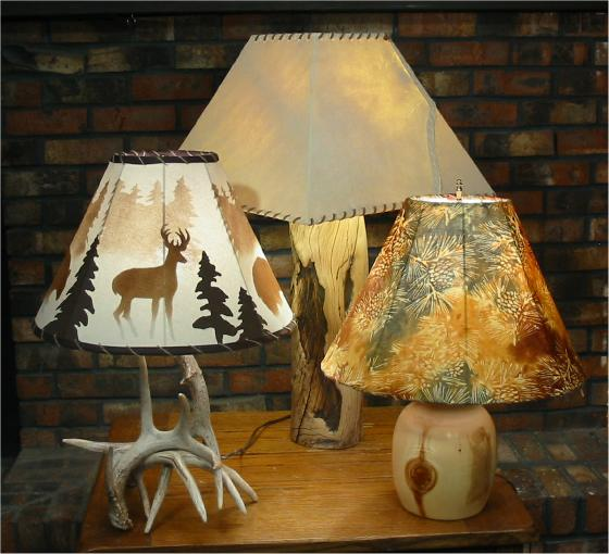 Small rustic table lamps