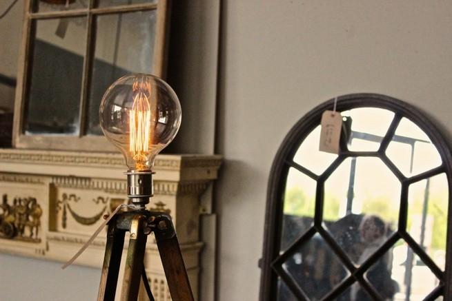 Antique electric floor lamps