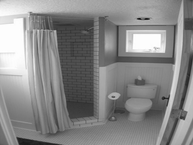 Ideas for the bathroom wall in the basement