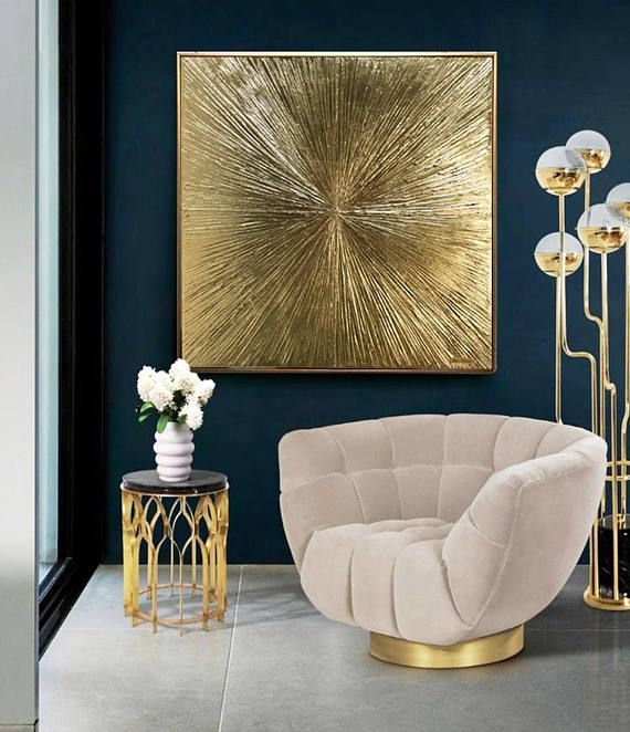 Gold Leaf Art, Large Wall Art, Abstract Painting, Gold Painting, Texture Wall Art, Original Painting On Canvas Modern Art by Julia Kotenko