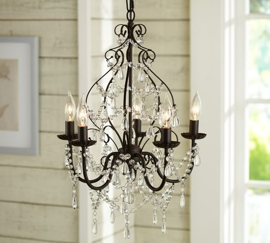 Paige Crystal Chandelier, Bronze finish