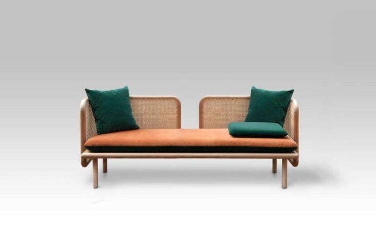Mixed-Material Contemporary Sofas