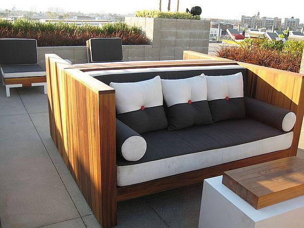 Modern wooden garden furniture