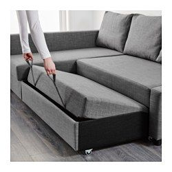 Sleeper sectional,3 seat w/storage FRIHETEN Skiftebo dark gray