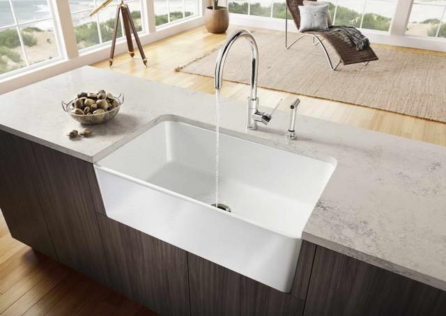Granite corner sink