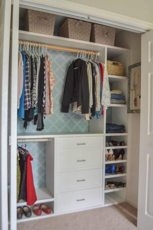Custom small closet system