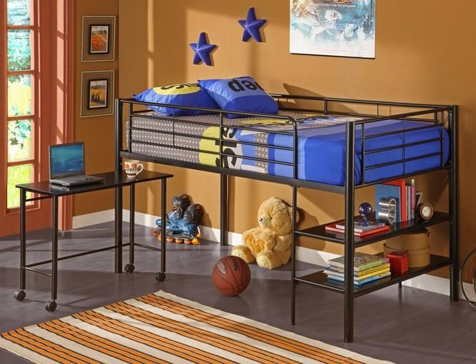 Walker Edison loft bed with desk