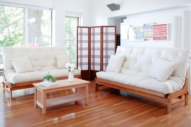 Cypress Wood Futon Frame in Java Finish
