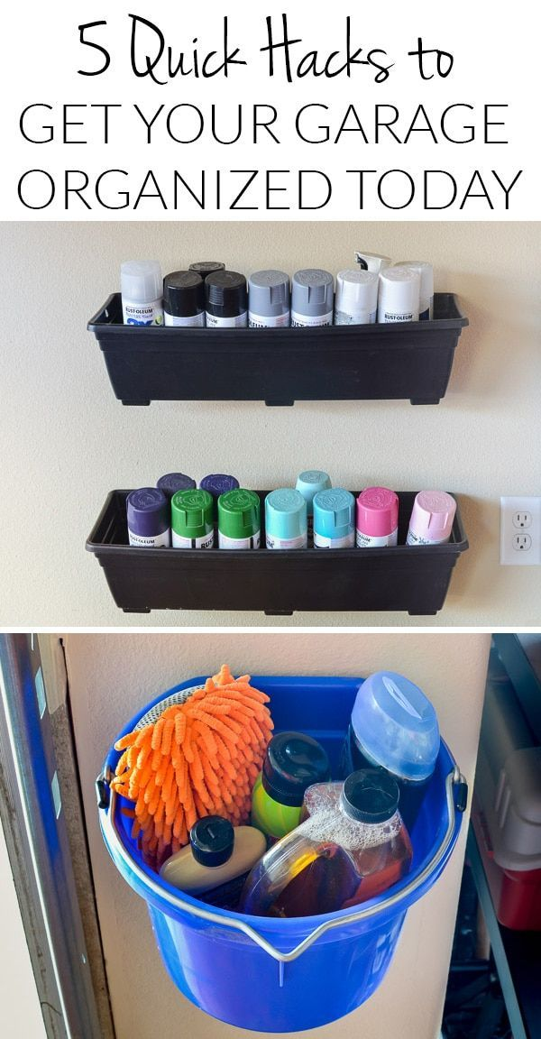 5 Quick Garage Organizing Hacks {Fast Fix Friday #2}