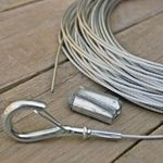 Globe Light Suspension Kit, Galvanized Steel Cable Guide Wire, 60 ft