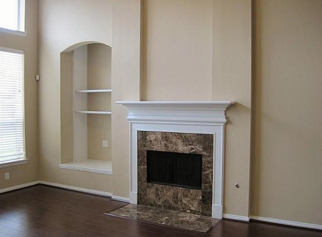 Granite surround fireplace