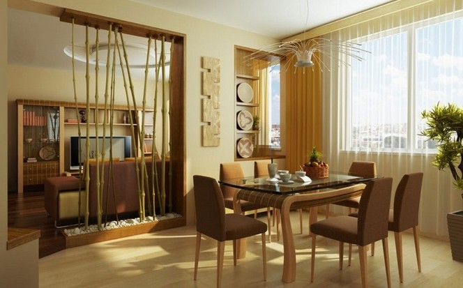 Decoration with bamboo