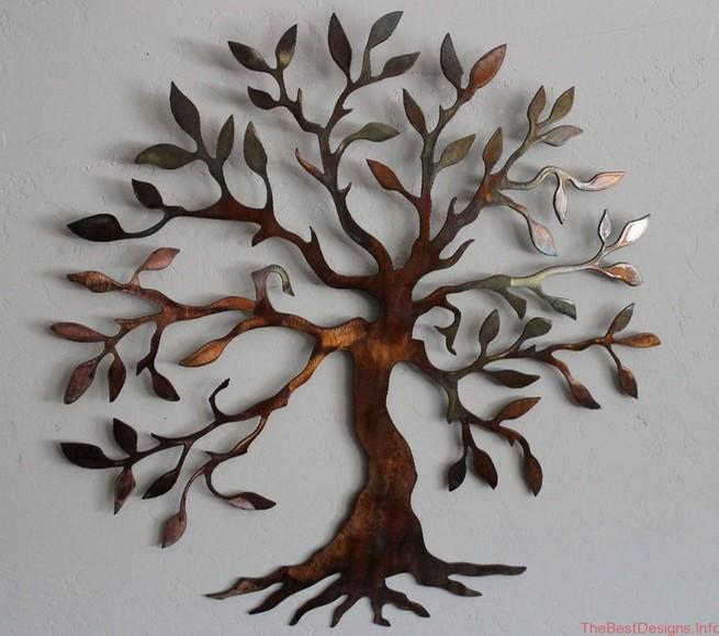 Metal wall art decor tree of life