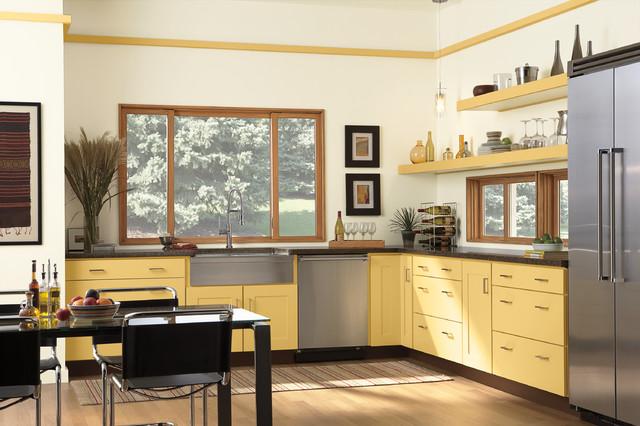 Modern kitchen windows