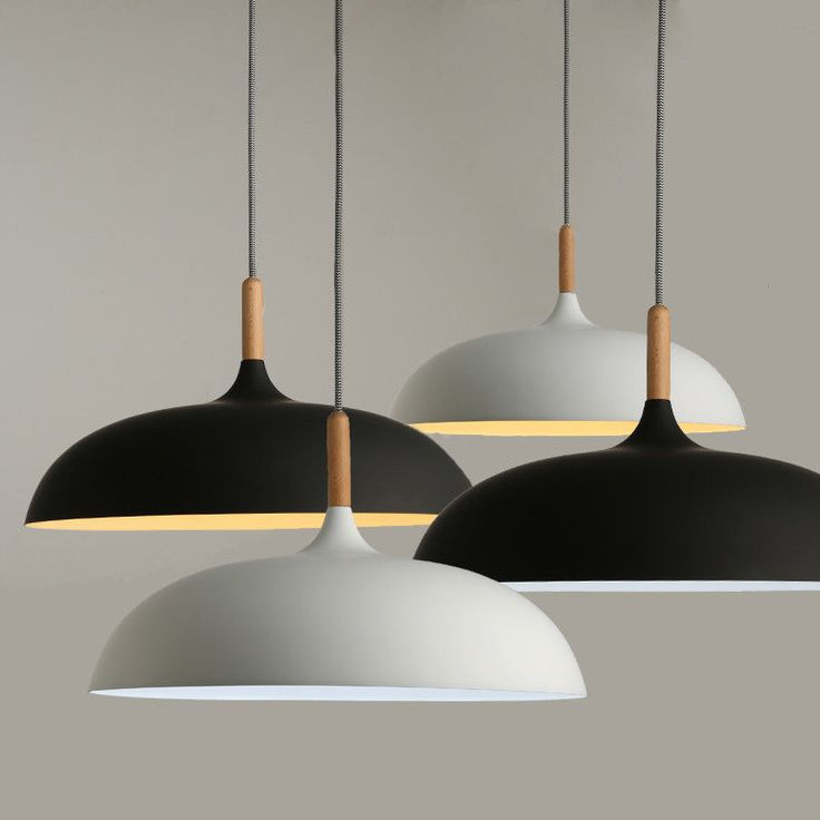 Detalles de Decorative Chandelier Hanging Modern Pendant Lights Wood & Aluminum Lampshade