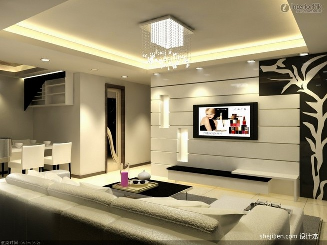 Decorate TV wall in living room