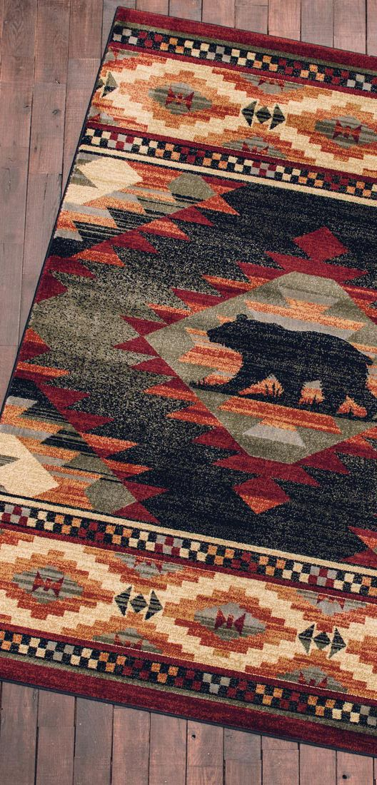 Bear Diamond Rustic Rug