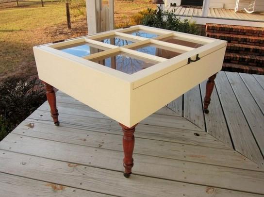 Shadow box coffee table drawers