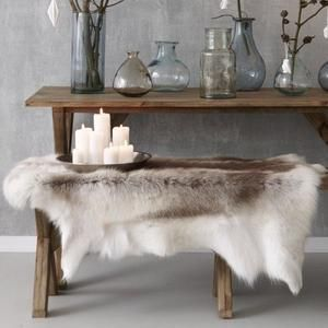 Luxurious Reindeer Fur Rug