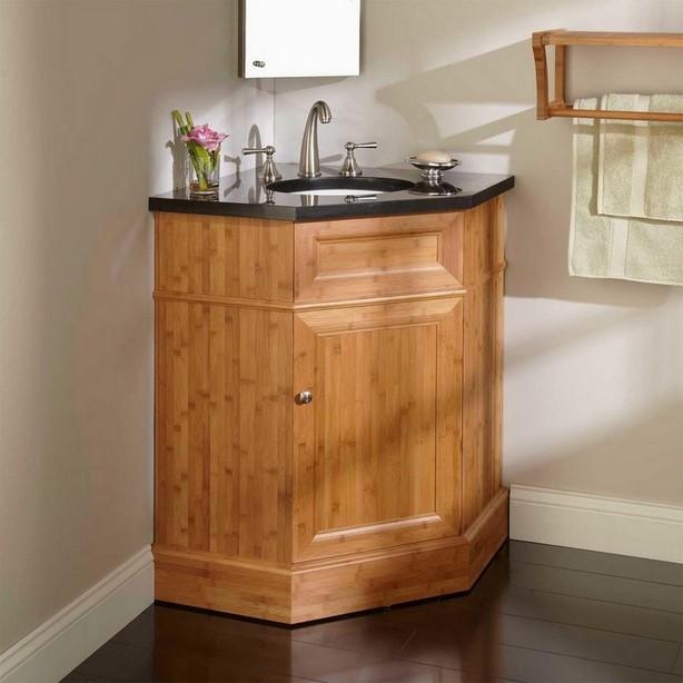 Corner sink with vanity unit