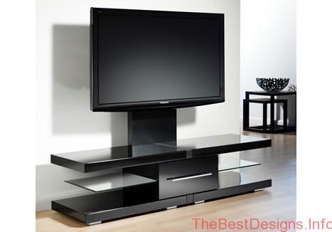 TV stand with bracket DIY black