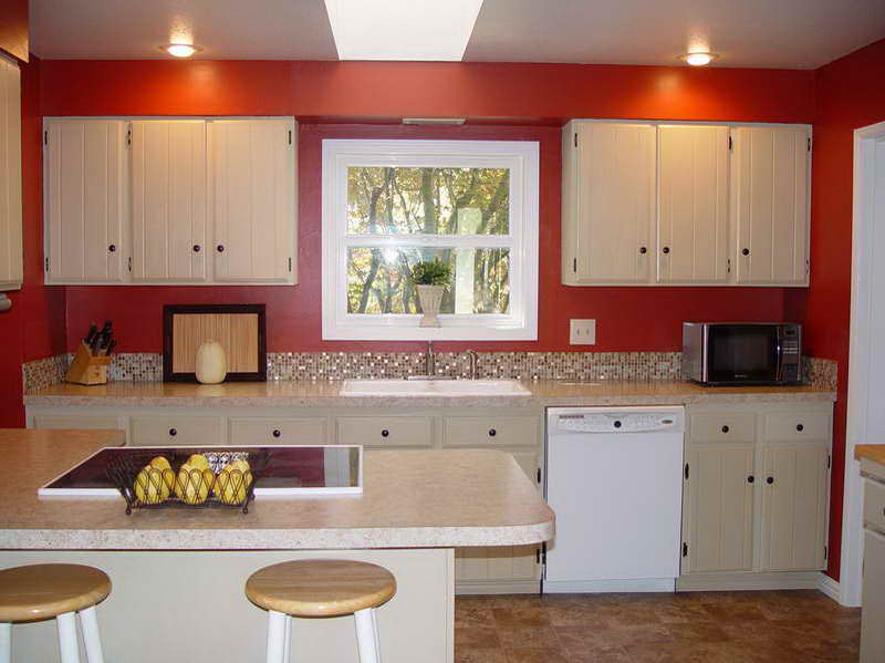 Kitchen lacquer colors red