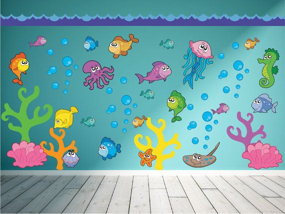 Ocean Wall Decal - Fish Wall Decal - Under the Sea Wall Decal
