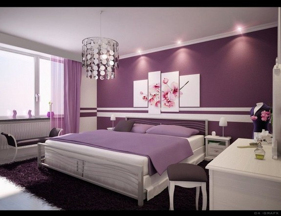 Bedroom design ideas with cherry wood furniture