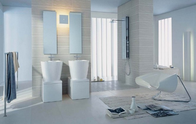 White bathroom decoration