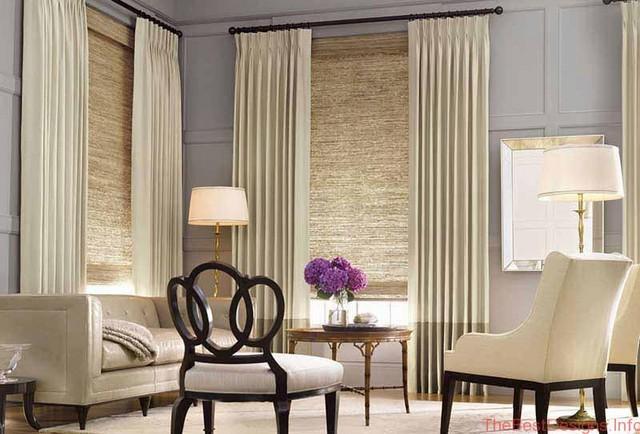 Modern window treatment ideas white